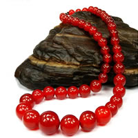 Red Agate Necklace, brass screw clasp, natural, graduated beads, 6-14mm, Sold Per Approx 18 Inch Strand