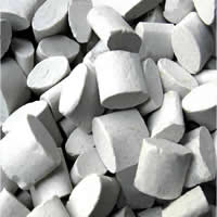 Abrasive, Wrown Alumina, Column, natural, grey, 15x15x8mm, Sold By Bag