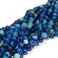 Natural Lace Agate Beads, Round, Customized & more sizes for choice, blue, Sold Per Approx 15 Inch Strand