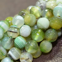 Natural Lace Agate Beads, Round, machine faceted, green, 12mm, Approx 32PCs/Strand, Sold Per Approx 15 Inch Strand