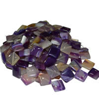 Natural Lace Agate Beads, Rhombus, purple, 25x25x8mm, Approx 16PCs/Strand, Sold Per Approx 15 Inch Strand