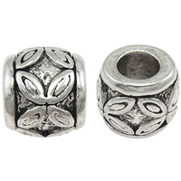 Zinc Alloy European Beads, Drum, plated, without troll, more colors for choice, nickel, lead & cadmium free, 9x10.5mm, Hole:Approx 4.5mm, Sold By PC