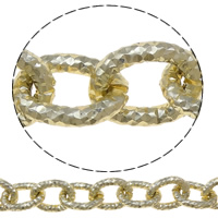 Aluminum Oval Chain, more colors for choice, nickel, lead & cadmium free, 15.5x20x3.5mm, 100m/Lot, Sold By Lot
