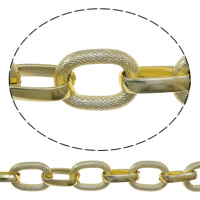 Aluminum Oval Chain, textured, more colors for choice, nickel, lead & cadmium free, 20.5x28x5mm, 100m/Lot, Sold By Lot