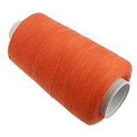 Sewing Thread, Cotton, reddish orange, 0.2mm, Sold By PC