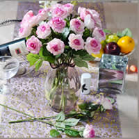 Artificial Flower Home Decoration, Rubber, Rose, more colors for choice, 70x430mm, Sold By PC