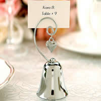 Place Card Clip, Stainless Steel, Bell, 90x40mm, Sold By PC