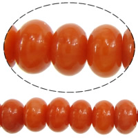 Natural Coral Beads, Rondelle, reddish orange, 3x5mm, Hole:Approx 0.5mm, Approx 115PCs/Strand, Sold Per Approx 13 Inch Strand