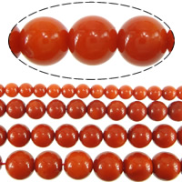 Natural Coral Beads, Round, different size for choice & Customized, reddish orange, Hole:Approx 0.5mm, Sold Per Approx 16 Inch Strand