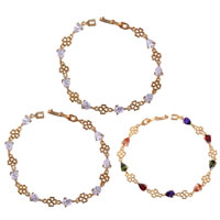 Gets® Jewelry Bracelet, Brass, Teardrop, 18K gold plated, with cubic zirconia, more colors for choice, nickel, lead & cadmium free, 4-10mm, Length:Approx 7.5 Inch, Sold By Strand