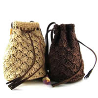Straw Woven Tote, with PU, mixed colors, 300x310mm, Sold By PC