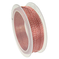 Aluminum Copper Alloy Cord, with plastic spool, Germany imported, pink, 6mm, 10m/PC, Sold By PC