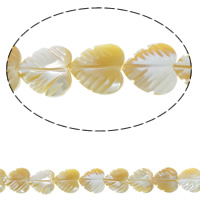 Sea Shell Beads, Natural Sea Shell, Leaf, two tone, 12x12x4mm, Hole:Approx 0.8mm, Approx 35PCs/Strand, Sold Per Approx 15.7 Inch Strand