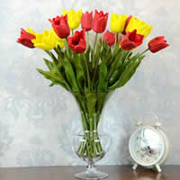 Artificial Flower Home Decoration, Rubber, with Plastic, Tulip, more colors for choice, Sold By PC