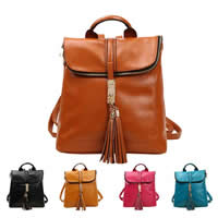 Fashion Backpack, PU, with Brass, gold color plated, more colors for choice, 320x310x130mm, Sold By PC