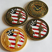 Commemorative Coin, Brass, Flat Round, plated, enamel & double-sided, more colors for choice, nickel, lead & cadmium free, 40mm, 200PCs/Lot, Sold By Lot