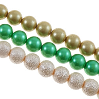Mixed Glass Bead, Round, 4-20mm, Hole:Approx 1-2mm, Length:16-33 Inch, 5KG/Bag, Approx 4Strands/KG, Sold By Bag