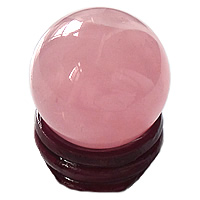 Natural Quartz Decoration, Rose Quartz, with Wood, Round, different size for choice, Sold By PC