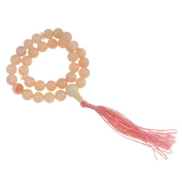 Wrist Mala, Jade, with Nylon Cord, Round, light pink, 10x10mm, 34PCs/Strand, Sold Per Approx 14 Inch Strand