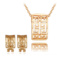 Fashion Zinc Alloy Jewelry Sets, earring & necklace, with 2lnch extender chain, plated, oval chain, more colors for choice, 13x21mm, 10x17mm, Length:Approx 18 Inch, Sold By Set