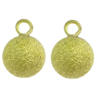 Stardust Brass Pendants, Round, plated, more colors for choice, nickel, lead & cadmium free, 8x11.5mm, Hole:Approx 1.5mm, 1000PCs/Bag, Sold By Bag