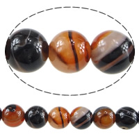 Natural Lace Agate Beads, Round, 8.5mm, Hole:Approx 1mm, Length:Approx 15.5 Inch, 48PCs/Strand, Sold By Strand