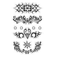 Tattoo Sticker, Paper, waterproof, 90mm, 4PCs/Set, Sold By Set