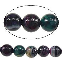 Natural Lace Agate Beads, Round, dark purple, 8mm, Hole:Approx 1mm, Approx 47PCs/Strand, Sold Per Approx 15 Inch Strand