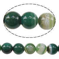 Natural Lace Agate Beads, Round, green, 8mm, Hole:Approx 1mm, Approx 47PCs/Strand, Sold Per Approx 15 Inch Strand