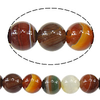 Natural Lace Agate Beads, Round, red coffee color, 10mm, Hole:Approx 1mm, Approx 38PCs/Strand, Sold Per Approx 15 Inch Strand