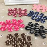 Magic Hair Pad, Cloth, Flower, mixed colors, 200PCs/Bag, Sold By Bag