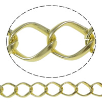 Aluminum Twist Oval Chain, plated, more colors for choice, nickel, lead & cadmium free, 26x31x7mm, Sold By m