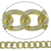 Aluminum Twist Oval Chain, plated, more colors for choice, nickel, lead & cadmium free, 19x24x3mm, Sold By m