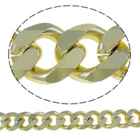 Aluminum Curb Chain, plated, more colors for choice, nickel, lead & cadmium free, 18x21x5mm, Sold By m