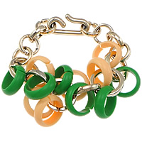 Copper Coated Plastic Bracelet, rolo chain, 8x23x23mm, Sold Per Approx 8 Inch Strand