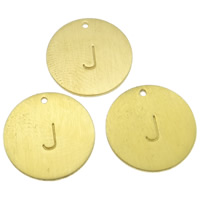 Stainless Steel Pendants, Flat Round, gold color plated, different designs for choice, nickel, lead & cadmium free, 12x1mm, Hole:Approx 1mm, 20PCs/Bag, Sold By Bag