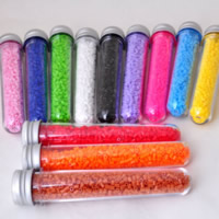 Hama Fuse Beads, Plastic, with Glass & Aluminum, Column, platinum color plated, mixed colors, 2.6mm, Approx 1100PCs/Box, Sold By Box