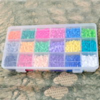 Hama Fuse Beads, Plastic, Rectangle, mixed colors, 5mm, 240x130x45mm, Approx 5400PCs/Box, Sold By Box