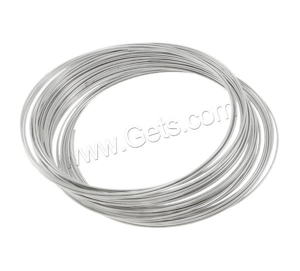 Tiger Tail Wire, plated, more colors for choice, 0.6mm, Inner Diameter:Approx 70mm, Approx 300m/KG, Sold By KG