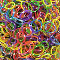 Loom Bands, Rubber, mixed colors, 1mm, Approx 14000PCs/KG, Sold By KG