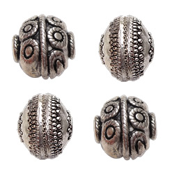 Filigree Zinc Alloy Beads
