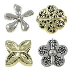 Zinc Alloy Flower Beads