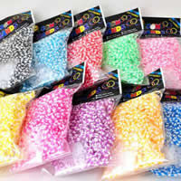 Loom Bands, Rubber, with plastic C clasp or S clasp & DIY & for children & luminated & two tone, mixed colors, 2mm, 600PCs/Bag, Sold By Bag