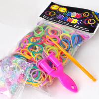 Loom Bands, Rubber, loom clip & loom crochet hook & Y shape mini loom, with Plastic, DIY & for children, mixed colors, 2mm, 600PCs/Bag, Sold By Bag