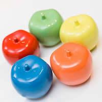 Porcelain Decoration, Apple, glazed, mixed colors, 75x75mm, 6PCs/Lot, Sold By Lot