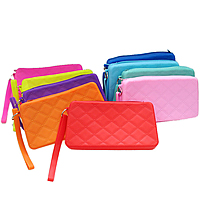 Mobile Phone Pouch, Silicone, with Zinc Alloy, Rectangle, plated, mixed colors, nickel, lead & cadmium free, 180x100x40mm, Sold By PC