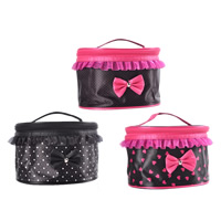 Storage Bag, Nylon, with Chiffon & Zinc Alloy, platinum color plated, different designs for choice & with ribbon bowknot decoration, 210x160x135mm, Sold By PC