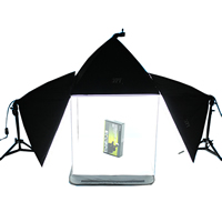 Mini Photo Studio Set, Lylon, softbox & photo studio & ​light stand, with Aluminum, stoving varnish, attached with four backdrops, 700x500mm, 600x600x600mm, Sold By Set