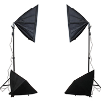 Photography Light Kit, Aluminum, softbox & light stand, with Lylon, stoving varnish, 500x700mm, Sold By Set