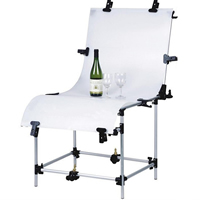Photo Shooting Table, Aluminum, with Plastic & Acrylic, nickel, lead & cadmium free, 600x1300mm, Sold By PC
